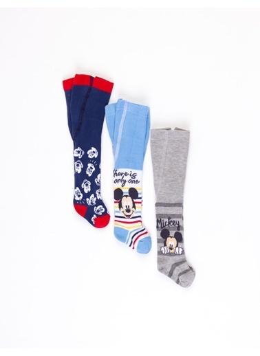 Mickey Mouse  Bebek3'Lü Külotlu Çorap 17040 Mavi